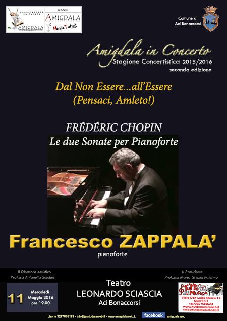 Associazione Amigdala. Recital pianistico di Francesco Zappalà