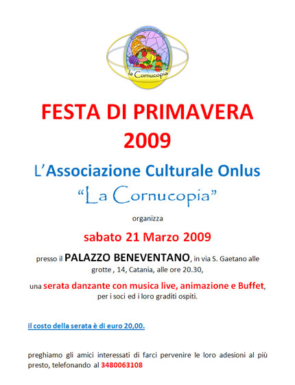1 U00aa  U0026quot Festa Della Primavera U0026quot